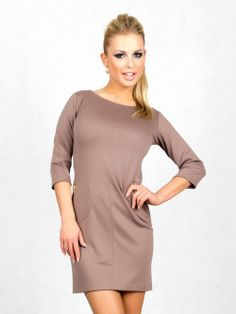 Sukienka 5720_cappuccino | Odzież damska \ sukienki Odzież damska \ sukienki | Tytuł sklepu zmienisz w dziale MODERACJA \ SEO
