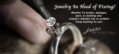 Have any broken jewelry laying around? Don't throw it away! Get it fixed so you can start wearing it again!