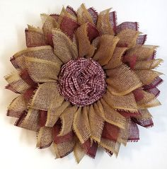 Mesh Sunflower Wreath Tutorial, We all lov. Burlap Flower Wreaths, Mesh Ribbon Wreaths, Christmas Mesh Wreaths, Sunflower Wreaths, Yarn Wreaths, Door Wreaths, Winter Wreaths, Floral Wreaths, Prim Christmas