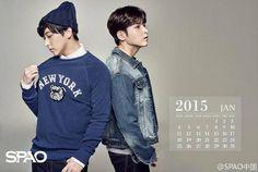 141215 SPAO Weibo Update - #Sungmin & #Ryeowook Calendar   cr: #spao via:@you_teuk ^^Cacao