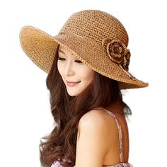 76e9c0f98e4 Siggi Womens Crochet 100% Raffia Straw Bucket Hat with Roll Up Down Brim  Hand-Made Navy at Amazon Women s Clothing store