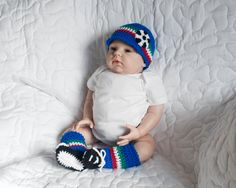 WORLD SOCCER BABY, Hat Leg Warmers, Crochet Soccer Hat, Italy Flag Royal Blue Green White Red, Baby Knit Soccer Outfit, Football Knit Hat by Grandmabilt on Etsy
