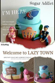 Lazy Town  #lazytown #birthdaycake