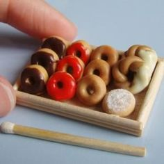 Mini donuts - Food Meets Art 127: Mini Food Sculptures on Display