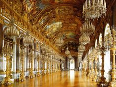 Hall of Mirrors, Herrenchiemsee Palace, Bavaria ~ Germany, have visited there, this room is unbelievablely beautiful