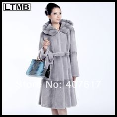 2014 Hot Selling Rex Rabbit Fur Coat With Belt Hooded US $700.00 - 760.00