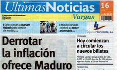 Últimas Noticias Vargas lunes 16  enero  de  2017