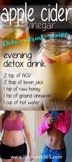 Apple Cider Vinegar Detox Drink Recipe: Drink This Every Night – You Will Need Smaller Clothes