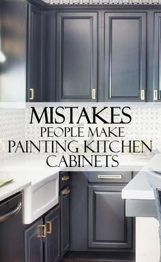 Take a few minutes to learn from others mistakes, while painting kitchen cabinets. You can DIY your project and make it beautiful! diy kitchen decor 5 Mistakes People Make When Painting Kitchen Cabinets - Painted Furniture Ideas Diy Kitchen Cabinets, Kitchen Redo, New Kitchen, Kitchen Makeovers, Awesome Kitchen, Design Kitchen, Kitchen Furniture, Kitchen Counters, Diy Kitchen Makeover
