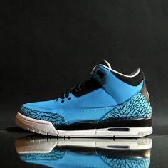 "AIR JORDAN 3 RETRO ""POWDER BLUE"" (BOYS GIRLS) 135976a87"