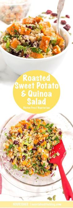 Roasted Sweet Potato Quinoa Salad with Zesty Lime Dressing