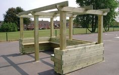 pergola with planter | pergola-style-box-planter-seating product image. Click here to view ...