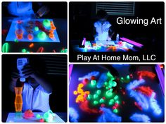 32 Best Glow In The Dark Art Images Glow Dark Art Glitter