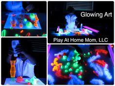 Glow in the dark art.  Kids Crafts.