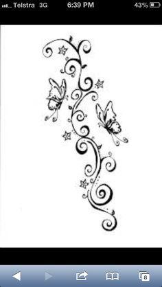 vorlage f r ein schmetterling tattoo mit blumen brandmalerei vorlagen pinterest. Black Bedroom Furniture Sets. Home Design Ideas