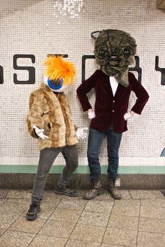 Halloween, NYC subway.