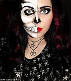 Skeleton Make-up… Love the idea of half-'n'-half.
