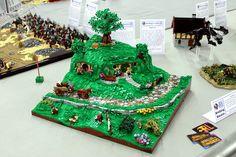 Bag End at Bricking Bavaria Cool Minecraft Houses, Minecraft Skins, Minecraft Buildings, Hama Beads Minecraft, Perler Beads, Lego Table Ikea, Legos, Lego Lego, Lego People