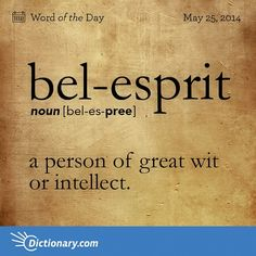 definition of bel-esprit