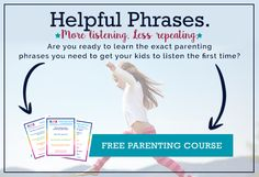 """Learn how to respond to your complaining child using """"wants"""" and """"wishes"""" phrases. Free printable list with the positive parenting phrases to say!"""