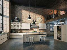 Cocina clásica / de madera / modular / con isla FRAME by Iosa Ghini Design…