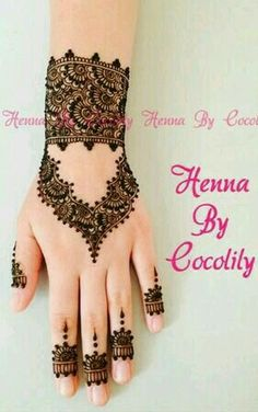 Beautiful henna bracelet design. Perfect for all occasions. Finger Henna/Mehndi. Arabic/Indian Henna or Mehndi design mix.