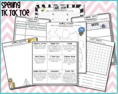 Spelling Goodies:  Spelling Tic-tac-toe ... students have to complete three-in-a-row spelling activities for this center Spelling Word Activities, Spelling Homework, Spelling Words, Word Games, Reading Activities, Classroom Rules, Classroom Organization, Classroom Ideas, Tic Tac Toe Free