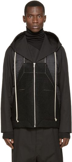 Rick Owens Black Hooded Jacket