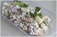 Comparte Recetas - Ensalada de pasta con jamón y piña