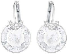 Swarovski Bella V Pierced Earrings - Large - White - Rhodium Plating - 5370854