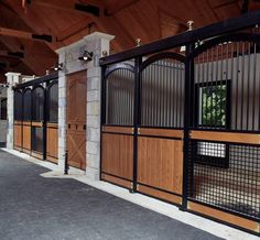 Never ever going to happen in my barn, but these are beautiful! Lucas Equine arch horse stalls