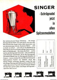 Original-Werbung/ Anzeige 1962 - SINGER /  NÄHMASCHINEN  - Ca. 120 X 170 M - Werbung