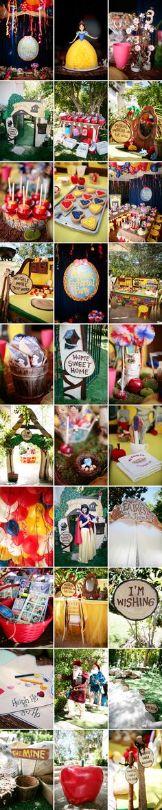 """An """"enchanting"""" fairy tale party - I absolutely love this! Would only take certain aspects, LOVE the cottage facade entrance to the party... definitely on the to do list! Cool Idea to incorporate parts of every popular fairy tale that Grace loves. #YoYoBirthday"""