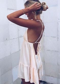We love this simple white dress! So cute and great for summertime!
