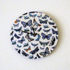 Large Wall Clock Home Decor Decor and Housewares by Shannybeebo, $50.00
