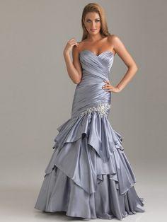 Trumpet/Mermaid Sweetheart Taffeta Prom Dresses #AUSA0211725