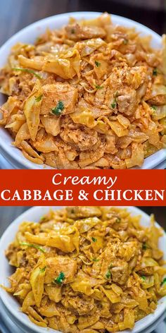 Chicken and Cabbage is truly a winning combo! Flavorful, delicious, and easy to make, this dish is s Easy Healthy Recipes, Vegetarian Recipes, Diet Recipes, Cooking Recipes, Easy Meals, Pasta Recipes, Cabbage Recipes, Chicken Recipes, Primal Blueprint Recipes