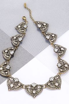 This timeless retro-glam necklace is the perfect topper to everything from simple sweaters to decadent cocktail looks.