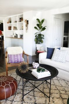 Living room Furniture Layout Great house tour of A Boldly