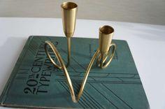 Vintage Mid Century Modern Curly Brass by ViewridgeVintage on Etsy