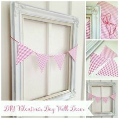 DIY Valentine's Day Wall Decor that is super easy!