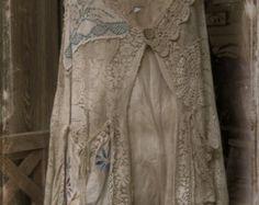 Vintage Crocheted Winter Jacket of Wine Color от daniSunshine