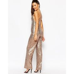 4025dfc3db29 Glamorous Pop Fizz Clink Sequin Jumpsuit - What s New. Se mer. Rare London  All Over Sequin Jumpsuit with Cross Back ( 54) ❤ liked on Polyvore