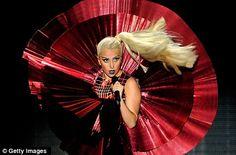 "Lady Gaga performing ""Marry The Night"" @ EMAs"