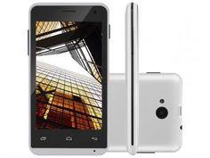 "Smartphone Multilaser MS40 4GB Dual Chip 3G - Câm. 5MP Tela 4"" Proc. Quad Core Android 4.4"