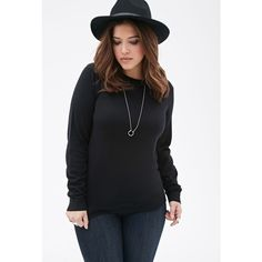 Forever 21 Plus Classic Crew Neck Sweater ($11) ❤ liked on Polyvore featuring tops, sweaters, crewneck sweater, long sleeve crew neck sweater, layered tops, long sleeve layering tops and long sleeve sweaters