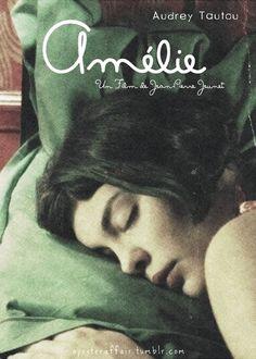 aposteraffair:  Amélie (2001) Le fabuleux destin d'Amélie Poulain (original title) Director: Jean-Pierre Jeunet Audrey Tautou, Mathieu Kassovitz