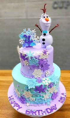 14 Best Children's Party Ideas images in 2020 Frozen Themed Birthday Cake, Frozen Theme Cake, Frozen Themed Birthday Party, Disney Frozen Birthday, Themed Birthday Cakes, Birthday Cake Girls, 2nd Birthday Parties, 4th Birthday, Olaf Birthday Cake