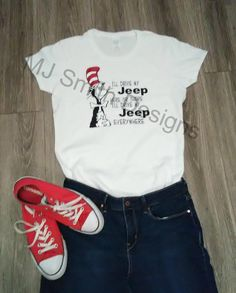 a81e5c75 Cat in the Hat Jeep Tshirt / Jeep Wrangler / Jeep Cherokee / Jeep Renegade  / Jeep Girl