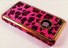 Hot Pink Leopard Phone Case for Fashion Girls Cool Cases, Cool Iphone Cases, 4s Cases, Popsockets Phones, Iphone 6 Covers, Girly Phone Cases, Pink Sparkles, Pink Leopard Print, Cheetah